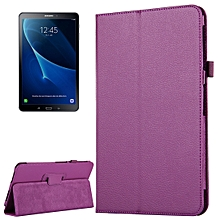 For Galaxy Tab A 10.1 / T580 Litchi Texture Magnetic Horizontal Flip Leather Case with Holder & Sleep / Wake-up Function(Purple)