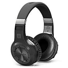 Bluedio HT H-Turbine Wireless Bluetooth Hands Free Headset Super Bass Music Headphone with Mic Line-in Socket for Smartphones Computer and Tablet PC BLACK