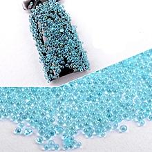 3D Hot Nail Art Glass Rhinestones Crystals Tips Decoration Manicure Wheel DIY-Sky Blue