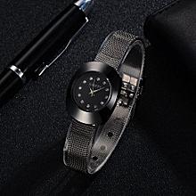 Fohting GAIETY Fashion Luxury Quartz Stainless Steel Mesh Belt Wrist Watch Elegant  -Black
