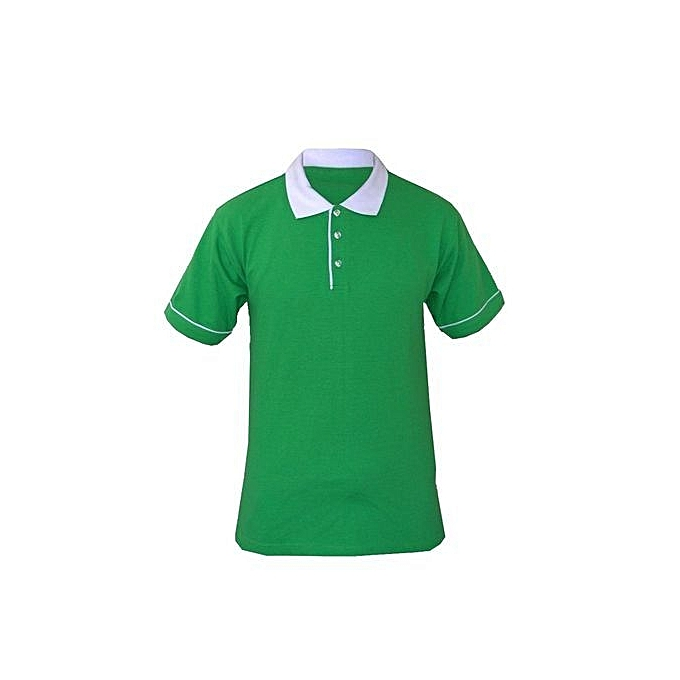 Generic Polo T-Shirt - Green and White   Best Price  7b69a596fc