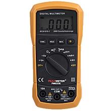 PEAKMETER MS8233E LCD Digital Auto Range Multimeter AC DC Ammeter Voltage Diode Continuity Tester