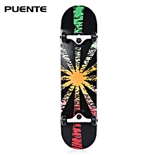602 ABEC - 9 Four-wheel Double Snubby Maple Skateboard For Entertainment-Red And Green