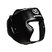 Boxing Helmet Training Headgear Head Guard Kick Sparring Gear Face Protection   Black