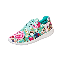 Casual Active Shoes - Turquoise Floral Intricate