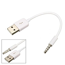 3.5mm AUX Audio Plug Jack To USB 2.0 Male Charge Cable Adapter
