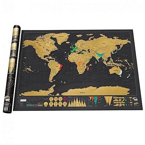 Buy generic 88x52cm deluxe travel edition scratch world map poster 88x52cm deluxe travel edition scratch world map poster black gold gumiabroncs Gallery