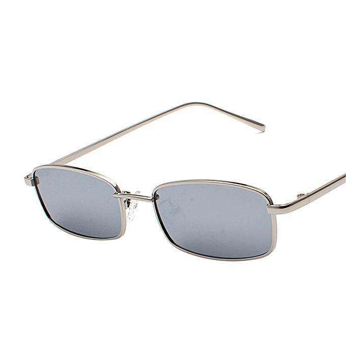 469c81a46cb Generic Rectangular Fashion Eyewear small Frame Metal Sunglasses ...