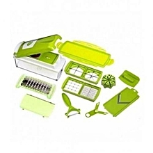 Multifunctional Nicer Diser Vegetable Cutter - Green