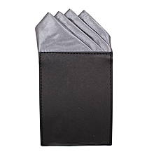 1d7f61eb16c85 Pocket Square Four Pointed Grey Charcoal