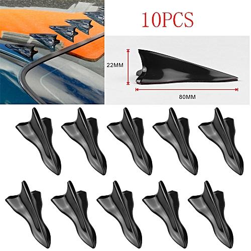 AfricanmallDN store 10PC Fin Diffuser Vortex Generator For Mitsubishi Windshield Roof Spoiler Bumper-Black