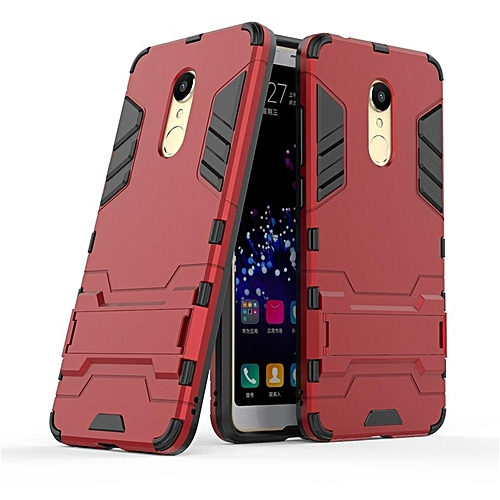 buy online b3c21 14ccc For Xiaomi Redmi 5 Case Luxury Hybrid Shockproof Hard Iron Man Armor  Defender Silicone Case For Redmi 5 Cover Phone Casing 206249 (Red)