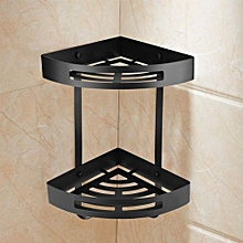 Double Layers Triangle Shower Shelf Storage Basket Holder Kitchen Bathroom Decor