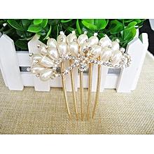 12 Styles Bride Hairpin Peacock Pearl Flowers Wedding Crystal Rhinestone Pearl Flower Hairpin Diamante Clip Hair Comb Pin Comb