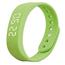 Smart Sport 3D Pedometer Wristband Watch Bracelet - Green