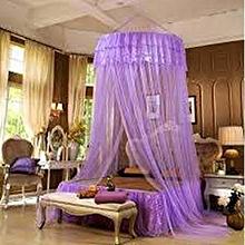 Round Decker Mosquito Net - Free Size - Purple