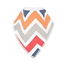 White-Multicolored Baby Bandana Drool Bib