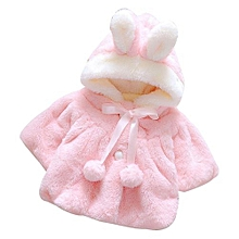 03c689126f21 Baby Infant Girls Fur Winter Warm Coat Cloak Jacket Thick Warm Clothes