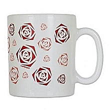 Luminarc 6 Piece Mug Set - Rose Pattern Engrave