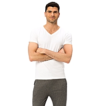 White Standard Male Undershirt