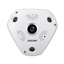 ESCAM Shark QP180 960P IP WiFi Camera 360 Degree Fisheye Panoramic Infrared Support VR Camera UK