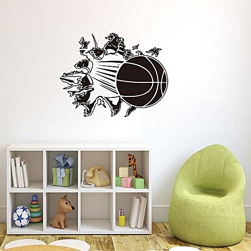 generic honana 3d removable vinyl wall sticker basketball busting