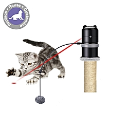 Cat Laset Topper Toy with Scratching Ball - Black