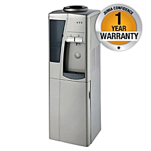 RM/357- Hot & Cold Water Dispenser + Fridge - Silver