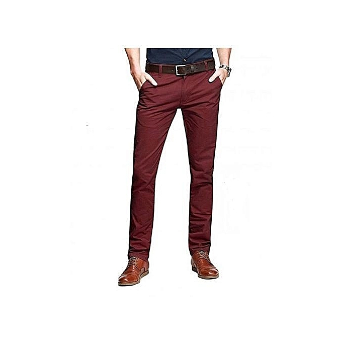 836a18460301f Generic Maroon Khaki Pants for Men   Best Price