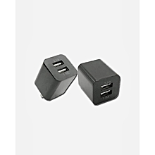 10W Wall Charger Fast 2 USB Ports iPhone & Android – Black