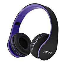 Best-selling LH-811 Digital 4 In 1 Multifunctional Wireless Stereo Bluetooth 4.1 + EDR Headphone Earphone Headset & Wired Earphone With Mic MP3 Player MicroSD / TF Music FM Radio Hands-free For Smart Phones Tablet PC Notebook  Purple