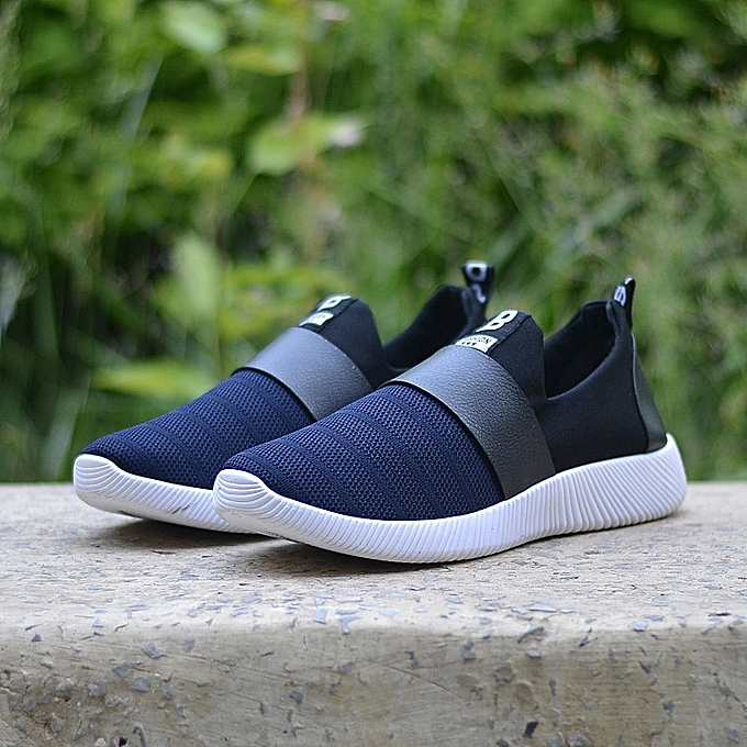 Men Shoes Casual Mesh Luxury Breathable Male Shoes Human Race Sport Trainers  Slip -blue cc47ae8b2a6d