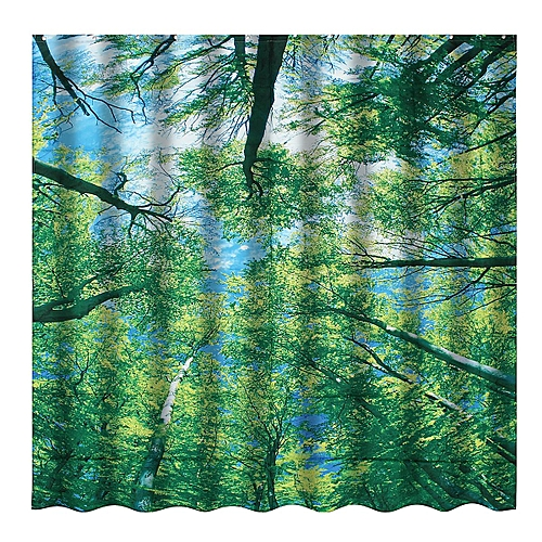 Sky Tree Shower Curtain Bathroom Fabric 12hooks 7171inch