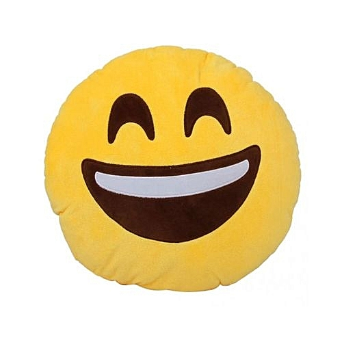 Round Emoji Pillows Christmas Gift Throw Pillow - Laughter