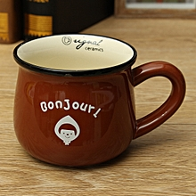 Coffee Mugs And Cups Retro Ceramic Lovers Breakfast Coffer Milk Mug Portable Tea Water Cup Cartoon Drinkware 5 Color F-47