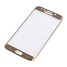 Premium Clear Screen Protector Tempered Glass For Samsung Galaxy S6 Edge Plus Gold