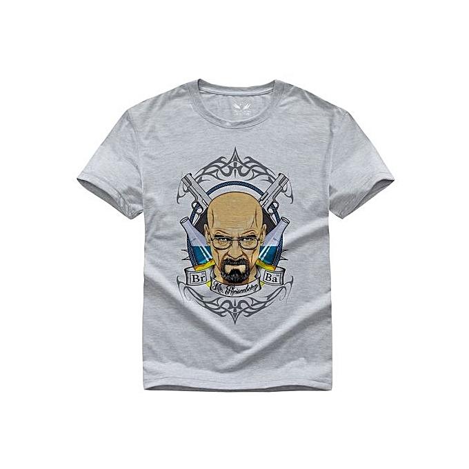 e3e3d906b Breaking Bad T Shirts Men Heisenberg T-Shirt Walter White Men Shirt Casual Men's  Tops