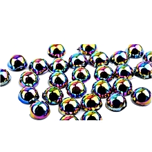 3D Resin Nail Art Decoration Slice Multicolored Stickers Decal -Multicolor