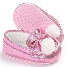 bluerdream-Baby Girl Boys Soft Sole Infant Toddler Newborn Warming Shoes-Pink
