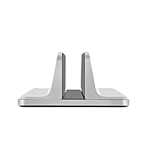 Vertical Universal Computer Desktop Display Holder Storage Shelve silver