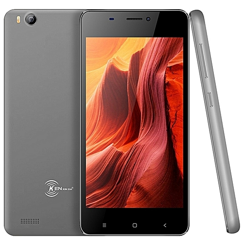 Kenxinda V6 3G Smartphone 4.5 inch Android 7.0 SC7731C Quad Core 1.2GHz 1GB RAM 8GB ROM 2.0MP Rear Camera 1700mAh Built-in G-sensor-DARK GRAY-DARK GRAY