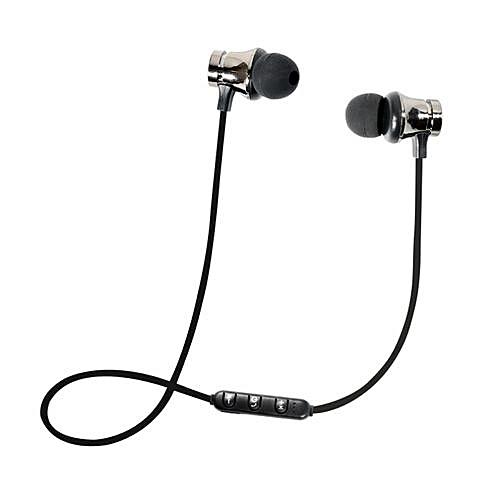 Olivaren BT 4.1 Stereo Earphone Headset Wireless Magnetic In-Ear Earbuds Headphone - Silver