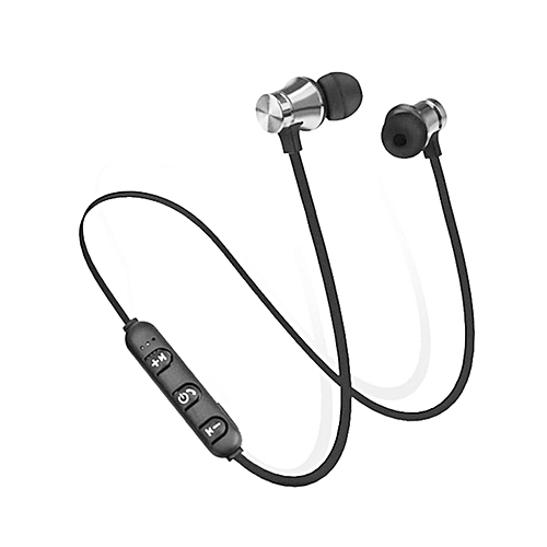 b9393853c63 Generic OR Portable Wireless Headphones Bluetooth Earphones Sports  SweatProof-Black&Silver