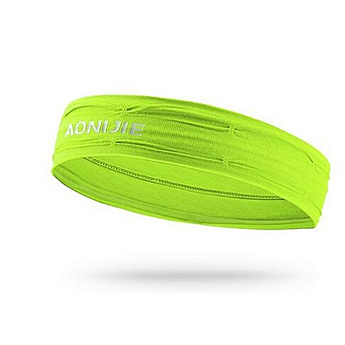 d8c46b6646ca8 Women Sport Elastics Sweatband Absorbent Anti Slip Hairband Headband Anti  Sweat Hair Band For Running Gym Fitness Yoga(Fluorescent yellow)