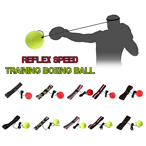 Generic Boxing Reflex Ball Adjustable Headband for Reflex Speed Training  Boxing Exercise Training Improve Reactions and Speed Boxing Gym Equipment    Best ... 787837e84ec50