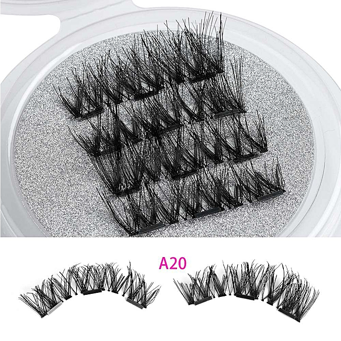 93367f948f0 1 Set Beauty Triple Magnetic False Eyelashes Full Coverage Glue-free Lashes  Cross Long Magnet