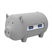 ORICO Little Pig High Speed USB 3.0 OTG HUB Adapter SD TF Card Reader For Macbook Laptop Grey