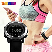 2018 New Fashion Men And Women's Smart Pedometer Bluetooth Call Remind Remote Camera Sports Watches-Black