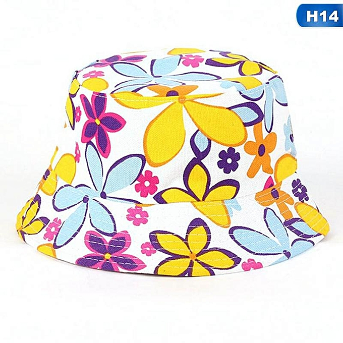 6d5e21bfe243a8 Floral Bucket Hat Beanie Flat Hunting Fishing Cap For Outdoor Summer Sun Hat