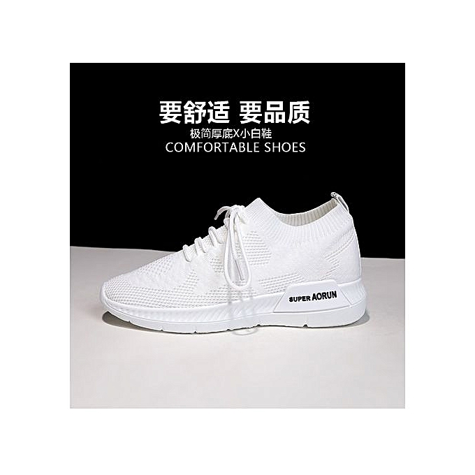 62cdd6310a945 Womens Flyknit Sneakers Soft Mesh Casual Walking Shoes White